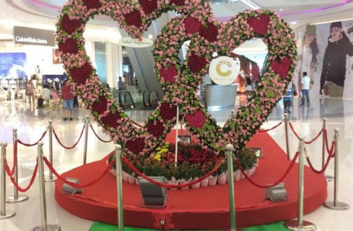 """Big heart gate"" for valentine's 2014"